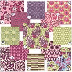 Custom Crib Bedding YOU CHOOSE Your Fabrics  by RockyTopDesign, $238.00 plum girls nursery