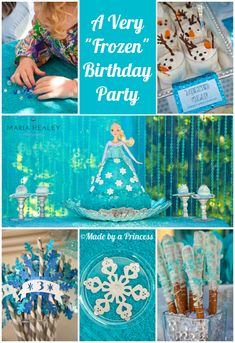 Frozen party Ideas - dessert, crafts, ideas, and more for the perfect Disney Frozen inspired birthday party