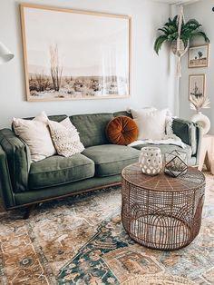 Boho Living Room, Cozy Living Rooms, Apartment Living, Home And Living, Living Room Decor, Br House, Cozy House, Living Room Inspiration, Home Decor Inspiration