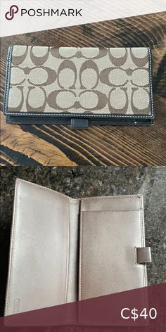 Authentic coach checkbook Pre used condition but no tear or damaged Bags Wallets Michael Kors Wallet, Michael Kors Black, Louis Vuitton Emilie Wallet, Ted Baker Wallet, Marc Jacobs Wallet, Hunter Boots, Vegan Leather, Leather Wallet, Wallets