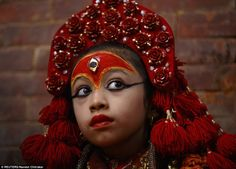 Matina, the latest Kumari goddess, was just three years old when she was bestowed with the title of Royal Kumari of Nepal in 2010
