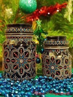1 million+ Stunning Free Images to Use Anywhere Glass Bottle Crafts, Bottle Art, Painted Jars, Painted Rocks, Bottles And Jars, Glass Jars, Wallpaper Flower, Mason Jar Lanterns, Dot Art Painting