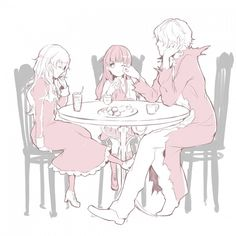 Garry x Eve, and Mary (Ib) by Pixiv ID # 1530034