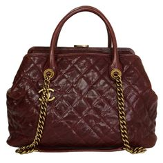 CHANEL Burgundy Quilted Caviar 30cm Shopping Tote Bag GHW | From a collection of rare vintage shoulder bags at https://www.1stdibs.com/fashion/handbags-purses-bags/shoulder-bags/