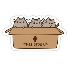 """PUSHEEN BOX"" Stickers by reun 