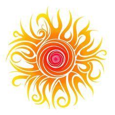 Tribal Sun by Dessins-Fantastiques on DeviantArt Sun Tattoo Designs, Sun Designs, Art Soleil, Sun Tattoo Tribal, Tattoo Moon, Sun Mandala, Sun Moon Stars, Desenho Tattoo, Sun Art