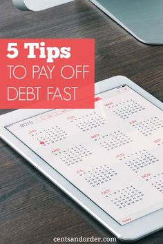 five tips to pay off debt fast