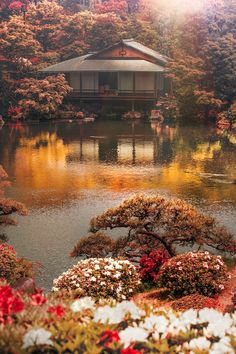 Japan - Sorakuen Garden with tea house in Kobe