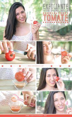 Exfoliante del rostro con tomate