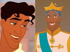 Tiana And Naveen, Prince Naveen, Princess Tiana, Disney Pixar, Disney Characters, Fictional Characters, Princesas Disney, King Queen, Queens