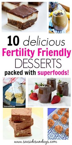 These fertility-friendly desserts are fantastic! They would be great for anyone on a PCOS diet or really anyone who wants to get pregnant quickly. Low carb, high protein desserts and treats that are packed with fertility superfoods. Get Pregnant Fast, Getting Pregnant, Pregnant Tips, Pcos Diet, Diet Foods, High Protein Desserts, Fertility Foods, Boost Fertility, Fertility Doctor