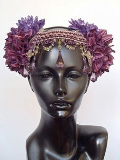 CUSTOM ORDER Flower & Tassel  Headpiece by MissGDesignsShop, $140.00