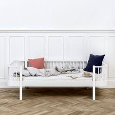 Bettsofa/Tagesbett \'Wood\' weiß 90x200cm