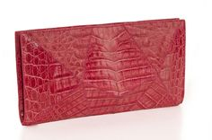 Origami #crocodile #clutch.  Handmade in Colombia. Statement piece, represents the unique Rinkel aesthetic. $900