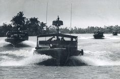 Navy River Patrol Boats in the Mekong Delta during the Vietnam War.