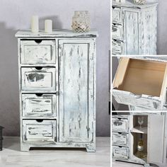 LOVE IT! Sideboard Im Shabby Chic + 4 Schubfächer   82x54,8x29,8