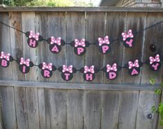 Oh TWO dles Minnie Mouse Banner 2nd Birthday by ThePaperPropShop