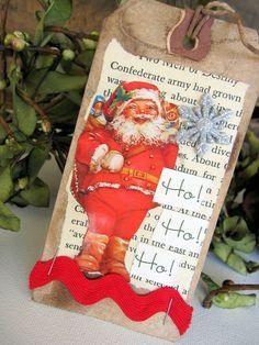 Santa Claus Tag Christmas Tags Handmade 15ad515f898d