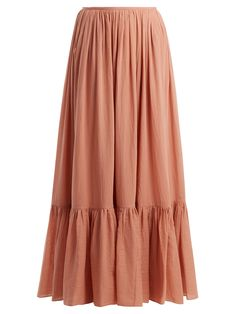 Flores tiered cotton maxi skirt | Loup Charmant | MATCHESFASHION.COM