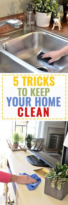 5 SIMPLE Tricks to Keep Your Home Clean at TidyMom.net