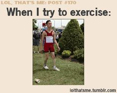When I try to excercise