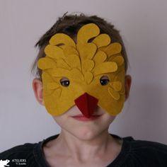 Felt bird mask