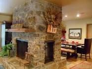 Almost bought a house with a fireplace in the middle.  Love that you can have a fire in the living or dining room.