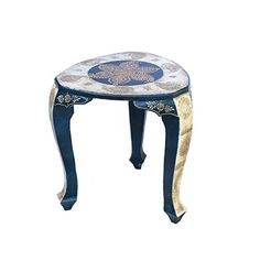 Crafticia Indian Royal Craft Rajasthan Pink City Jaipur Unique Traditional Wooden Handmade Handicraft Triangle Stool Decorative Gift Item Home Table Decor Beautiful New Creative Stools Showpiece *** Visit the image link more details.