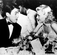 Jimmy Stewart and Ginger Rogers.