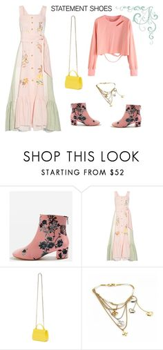 """I I I I"" by create-494 ❤ liked on Polyvore featuring Topshop, Peter Pilotto, Furla and Louis Vuitton"