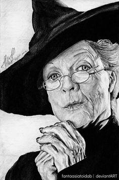 Professor McGonagall by Helene [©2014 Fantaasiatoidab]