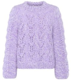 7e196f0b9c7 Julliard purple mohair and wool sweater