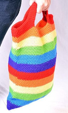 Custom made crochet beach bag by SimpleStitches16 on Etsy