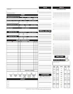 This is a custom character sheet I made for 3.5e of d&d