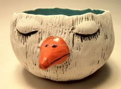 Bird pinch pot (top/interior view).