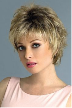The Winter Synthetic Wig by Rene of Paris is a short sophisticated wispy layered style that is face flattering and modern. Short Shag Hairstyles, Short Layered Haircuts, Short Hairstyles For Women, Easy Hairstyles, Hairstyle Short, Casual Hairstyles, Hairstyles Haircuts, Wedding Hairstyles, Short Brown Hair