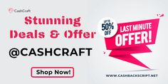 Stunning Deals & Offers at CashCraft Script, 50th, Coupon, Script Typeface, Coupons