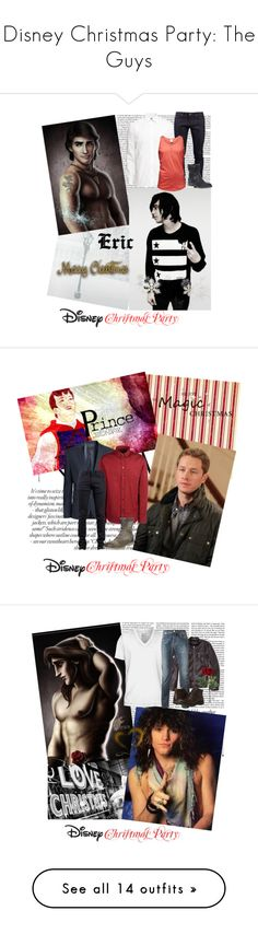 """""""Disney Christmas Party: The Guys"""" by lavillemorte ❤ liked on Polyvore featuring Victoria Beckham, Disney, H&M, Naked & Famous, Jack & Jones, Barratts, Marc by Marc Jacobs, A.S. 98, 21 Men and Hurley"""