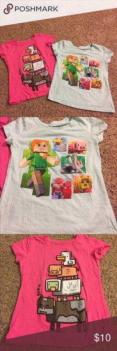 Bundle of girls Minecraft tshirts Bundle of girls Minecraft tshirts. Great condition Shirts & Tops Tees - Short Sleeve