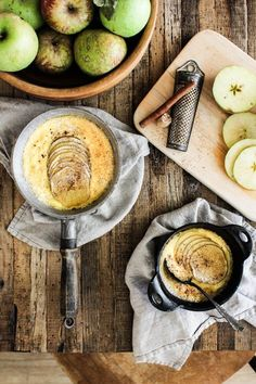 Easy Baked Apple Custard recipe || A super easy recipe for fall that uses ingredients you probably already have on hand! || @thismessisours #aisforalltheapples