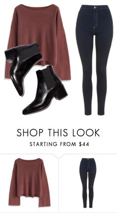 """""""Sem título #7572"""" by ana-sheeran-styles ❤ liked on Polyvore featuring Chicwish and Topshop"""