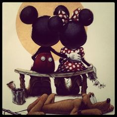 Mickey  Minnie. love this but it would be a lot of time and work