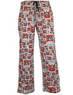 52869b4474f46 The Simpsons Mens Duff Beer Lounge Pants Size Medium