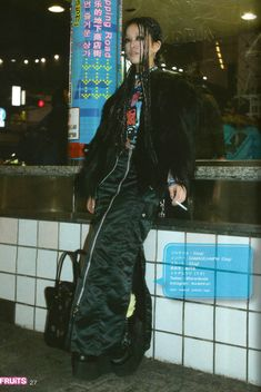 Ikeda Hirari Japanese Streets, Japanese Street Fashion, Tokyo Fashion, Harajuku Fashion, Punk Fashion, Korean Fashion, Womens Fashion, Fashion Outfits, Looks Dark