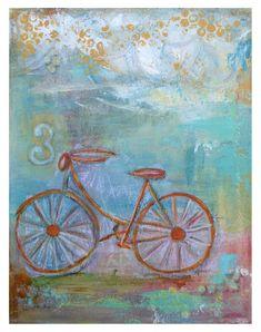 Summer Bicycle Art Print