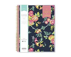 "Amazon.com : Day Designer for Blue Sky 2018-2019 Academic Year Weekly & Monthly Planner, Flexible Cover, Twin-Wire Binding, 8.5"" x 11"", Peyton Navy Design : Office Products"