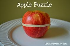 Apple Puzzle -  Pinned by @PediaStaff – Please Visit http://ht.ly/63sNt for all our pediatric therapy pins