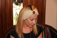 Crochet Headwarmer by KissiesCreations on Etsy