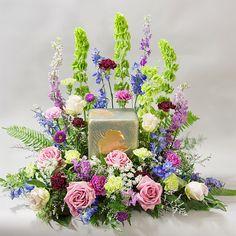 floral arrangements for cremation urns   Flower Shop Home / Urn Arrangements / Peaceful Meadows Urn Arrangement