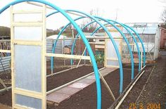 I am thinking of building my own polytunnel on the allotment. Will have to price up second hand scaffolding posts plus 50mm blue water pipe and secondhand wood. the size will be approx. 22ft x 16ft